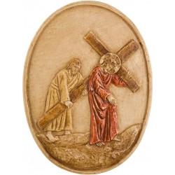Simon de Cyrène aide Jésus...