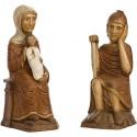 Nativité Polychrome Marron (Jésus sans la mangeoire, Marie, Joseph)