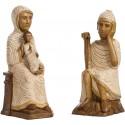 Nativité Polychrome Blanc (Jésus sans la mangeoire, Marie, Joseph)