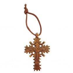 Croix Copte métal doré