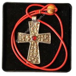 Croix copte avec cordon et écrin