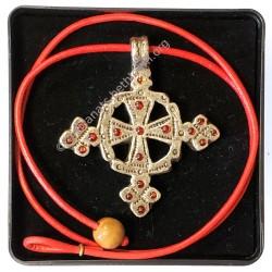 Croix melchite avec cordon et écrin