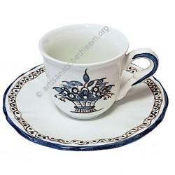 Tasse + soucoupe à café