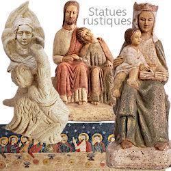 Statues rustiques